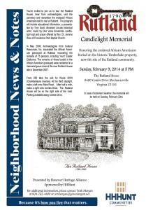 Candlelight Memorial at Rutland