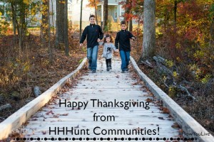 Happy Thanksgiving from HHHunt Communities